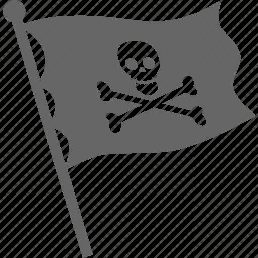 death, flag, pirate, skull icon