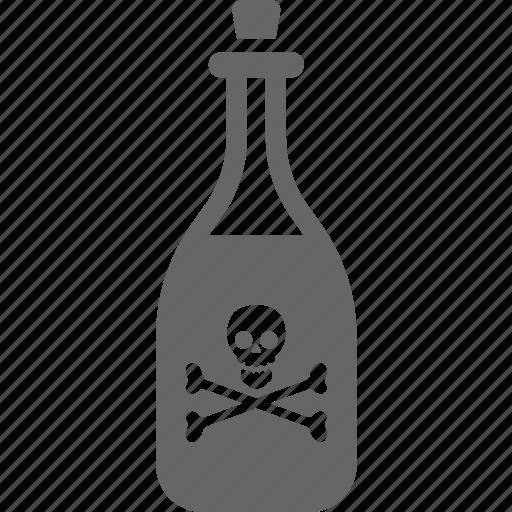 bottle, drink, pirate, poison icon