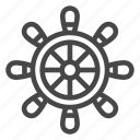 controller, ocean, pirate, ship, wheel icon