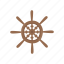 adventure, ocean, pirate, ship, wheel icon