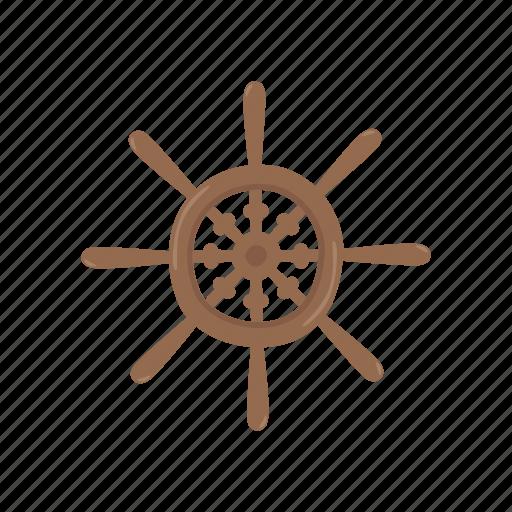 adventure, ocean, pirate, ship, wheel icon