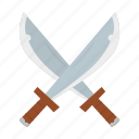 adventure, cross, ocean, pirate, sword icon