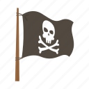 adventure, flag, ocean, pirate, skeleton icon