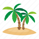 adventure, beach, ocean, palm, pirate icon