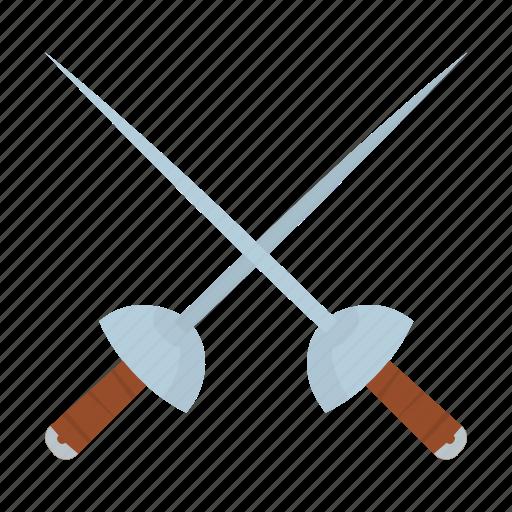 adventure, cross, fencing, ocean, pirate, sword icon