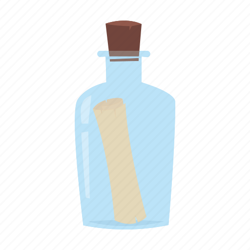 adventure, bottle, message, ocean, pirate icon