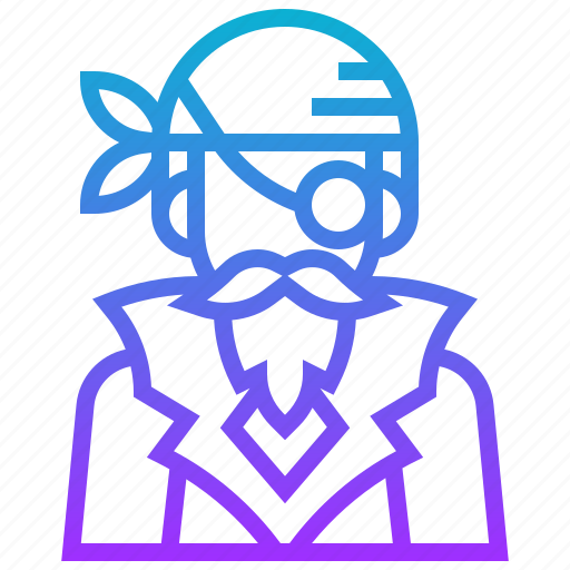 avatar, buccaneer, male, man, pirate icon