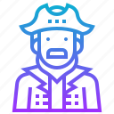 avatar, buccaneer, captain, male, man, pirate icon