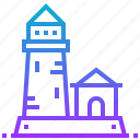 architecture, building, landmark, lighthouse, tower icon