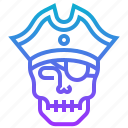 crossbone, death, hat, helmet, piracy, pirate, skull icon