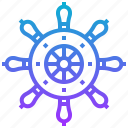 marine, nautical, pirate, ship, steering, wheel icon