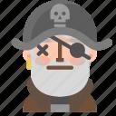 avatar, emoji, emoticon, halloween, lifeless, pirate, profile icon