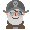 avatar, emoji, emoticon, halloween, nerd, pirate, profile icon