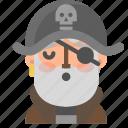 avatar, emoji, emoticon, halloween, pirate, profile, sleep icon