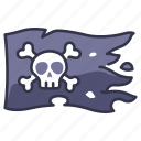 death, flag, skull, danger, pirate, skeleton, cross