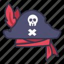 captain, clothing, costume, hat, pirate, retro, skull