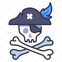 skull, horror, bone, danger, skeleton, dead, pirate