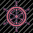 boat, control, nautical, sea, ship, steering, wheel icon