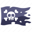 cross, pirate, danger, flag, skeleton, death, skull