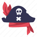 captain, costume, hat, retro, clothing, pirate, skull