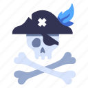 pirate, danger, dead, head, crossbones, skeleton, skull