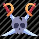 danger, death, head, pirate, skeleton, skull, sword