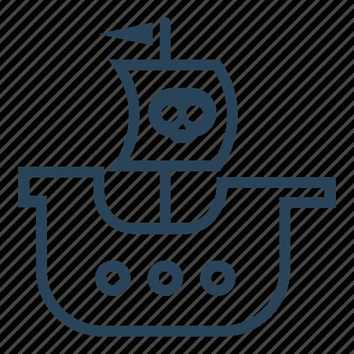 boat, pirate boat, pirate flag, pirate ship, pirates, sails, ship icon