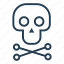 bones, pirate, pirate skull, pirates, skeleton, skull, skull and cross bones icon