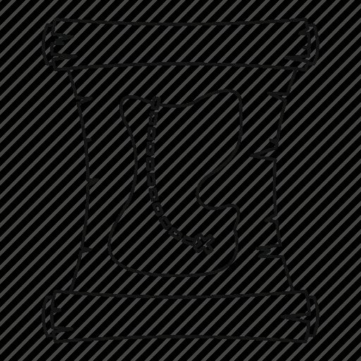 line, outline, path, pirate, search, thin, treasure map icon