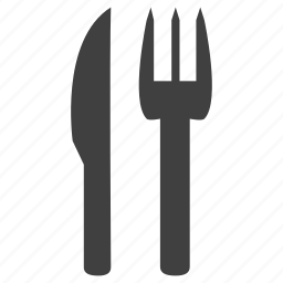 cutlery, eat, food, fork, kitchen, knife, set icon