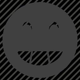 emoticon, expression, face, funny, happy, smiley icon