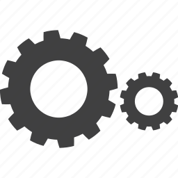 cogwheels, gear, interlink, interlocked, mechanics, wheels icon