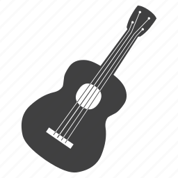 artistic, gitar, music, note, rock, stringed instrument, waves icon