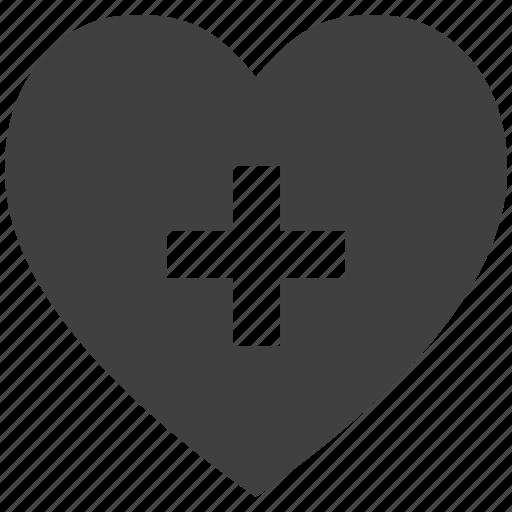 addition, concept, heart, love, plus icon