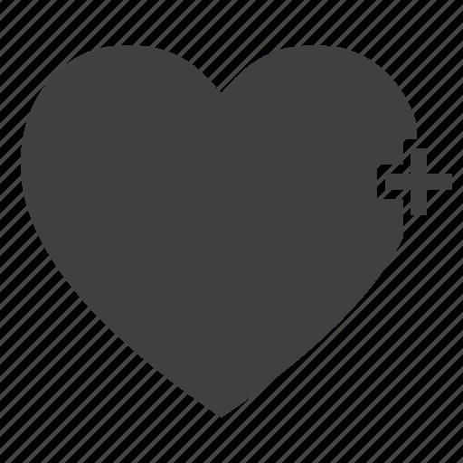 addition, conceptual, heart, love, plus icon