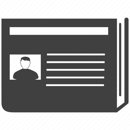 card, contact, id, identity, label icon