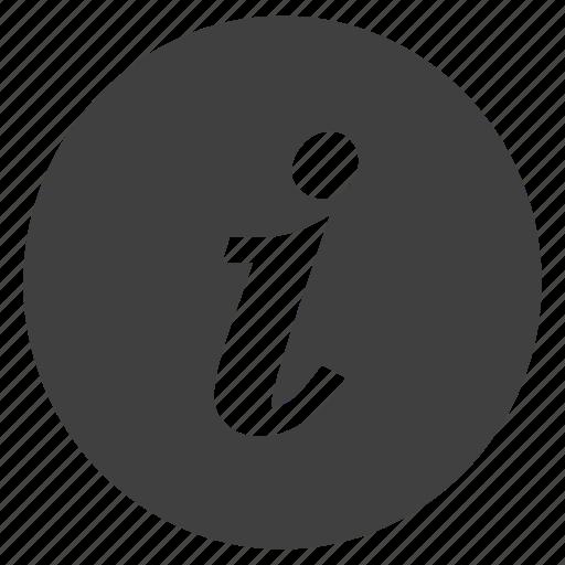 alphabet, info, information, italics, letter icon