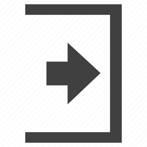 arrow, button, go, inside, next, right icon