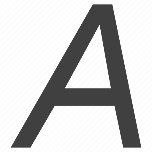 alphabet, italics, letter, sign, text icon