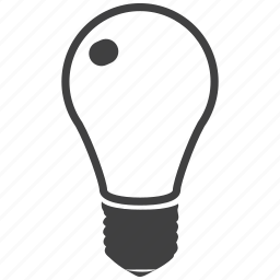 bright, electric, energy, eqipment, filament, glowing, lamp, lightbulb, technology icon