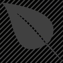 grass, leaf, left, plant icon