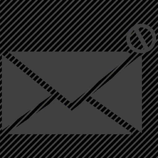 delete, email, error, exit, letter, quit icon