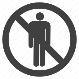 allowed, danger, forbidden, hazard, men, not, prohibited, restricted, sign, warning icon