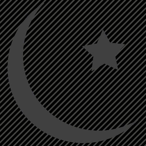 eid mubarak, islam, moon, sign, star icon