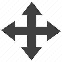 arrow, fourway, moving icon
