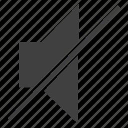 mute, no sound, no volume, silent, zero volume icon