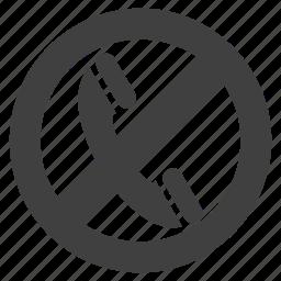 calling, calls restricted, no, prohibited, unauthorised icon