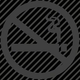 hazard, no, prohibited, restricted, risk, smoking, unauthorised icon