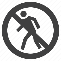 allowed, banned, human, no, not, pedestrain, prohibited, restricted, walking icon