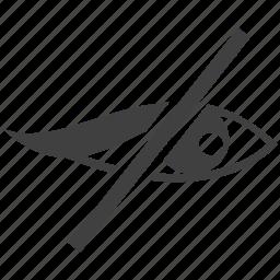 eye, human eye, no visibility, no vision, visibility icon